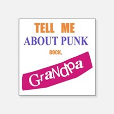 "sexpistols_grandpa_for_gree Square Sticker 3"" x 3"""