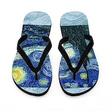 van gogh starry night SC1 Flip Flops