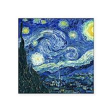 "van gogh starry nightSC2 Square Sticker 3"" x 3"""