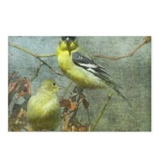 Goldfinch Pair Layered Te Postcards (Package of 8)