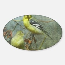Goldfinch Pair Layered Textures Decal
