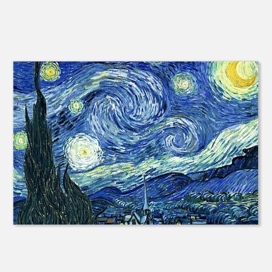 van gogh starry nightOrig Postcards (Package of 8)