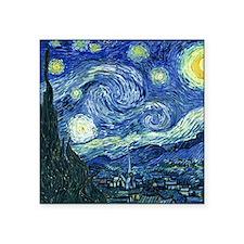 "van gogh starry nightOrigin Square Sticker 3"" x 3"""
