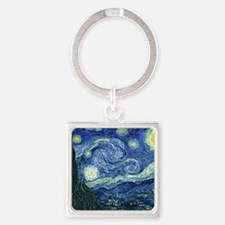 van gogh starry nightOriginal Square Keychain