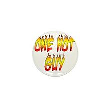One Hot Guy Mini Button