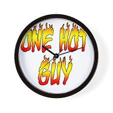 One Hot Guy Wall Clock