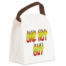 One Hot Guy Canvas Lunch Bag