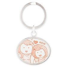 mom Oval Keychain