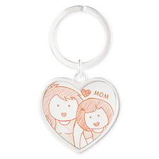 mom Heart Keychain