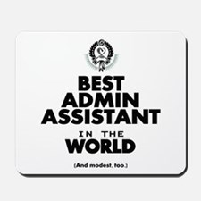 The Best in the World – Admin Assistant Mousepad