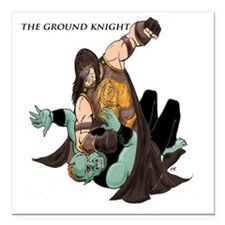 "Ground Knight Square Car Magnet 3"" x 3"""