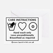 Care Instructions, Hand Wash Only, L Greeting Card