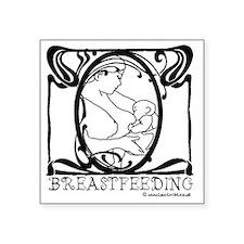 """Breastfeeding Picture Square Sticker 3"""" x 3"""""""