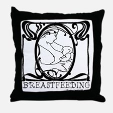 Breastfeeding Picture Throw Pillow