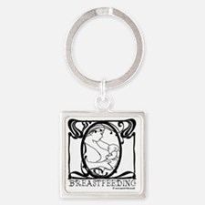 Breastfeeding Picture Square Keychain