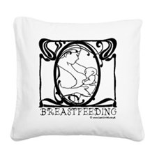 Breastfeeding Picture Square Canvas Pillow
