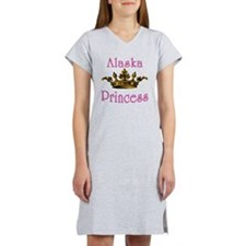 Alaska Princess with Tiara Women's Nightshirt