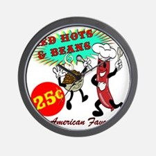 RED-HOTS-AND-BEANS-AM-FVRT Wall Clock