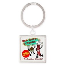 RED-HOTS-AND-BEANS-AM-FVRT Square Keychain