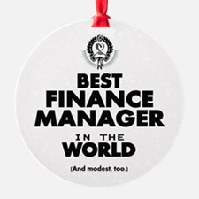 The Best in the World – Finance Manager Ornament