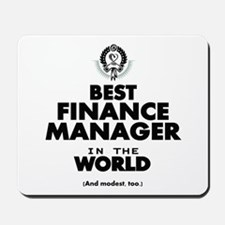 The Best in the World – Finance Manager Mousepad