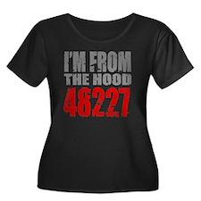 48227 Women's Plus Size Dark Scoop Neck T-Shirt