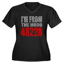 48228 Women's Plus Size Dark V-Neck T-Shirt