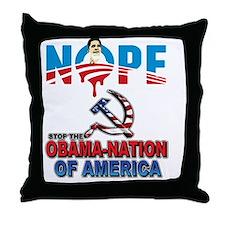 uaff_obama_tee_design3 Throw Pillow