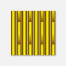 """Yellow pipes shower curtain Square Sticker 3"""" x 3"""""""