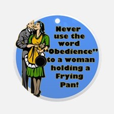 OBEDIENCE.gif Round Ornament