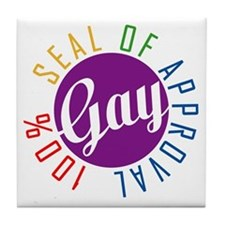 Gay Seal of Approval Tile Coaster