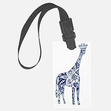 Navy Giraffe Luggage Tag