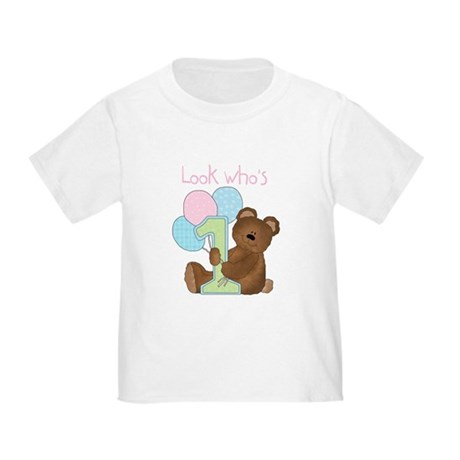 Look Who's One (pink) Toddler T-Shirt
