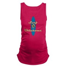 Surf Oklahoma Maternity Tank Top