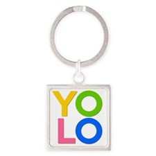YOLO Square Keychain