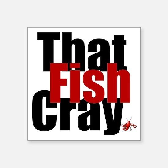 "crayfish Square Sticker 3"" x 3"""