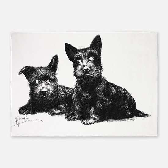 Scotties DOGS FINAL MASTER 5'x7'Area Rug