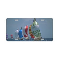 Sailboats Aluminum License Plate
