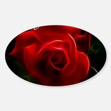 Romantic Red Rose Fractal With I Lo Decal