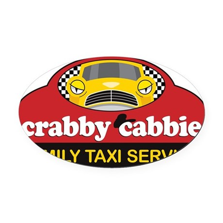 crabbycabbieK Oval Car Magnet