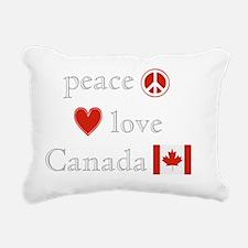 PeaceLoveCanada Rectangular Canvas Pillow