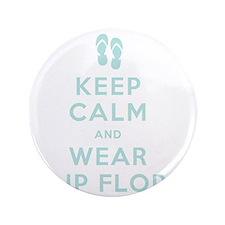 """t-shirt_keep calm_flipflops_FINAL 3.5"""" Button"""