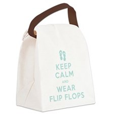 t-shirt_keep calm_flipflops_FINAL Canvas Lunch Bag