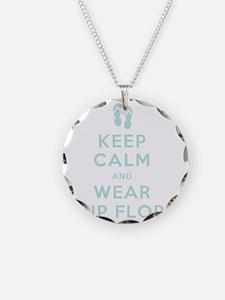 t-shirt_keep calm_flipflops_ Necklace