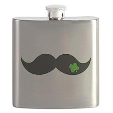 Shamrock Stache Flask
