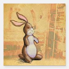 """Velvet-Rabbit 3 Square Car Magnet 3"""" x 3"""""""