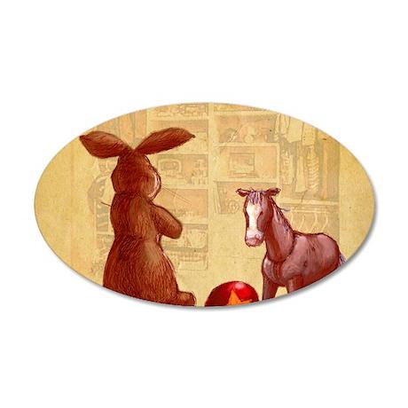 Velvet-Rabbit 2 35x21 Oval Wall Decal