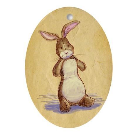 Velvet-Rabbit 8 Oval Ornament