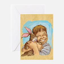 Velvet-Rabbit 4 Greeting Card