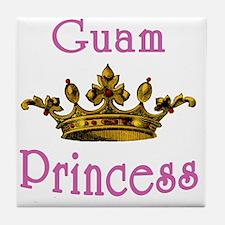 Guam Princess with Tiara Tile Coaster